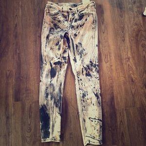 Unique Zara jeans paint splatter look
